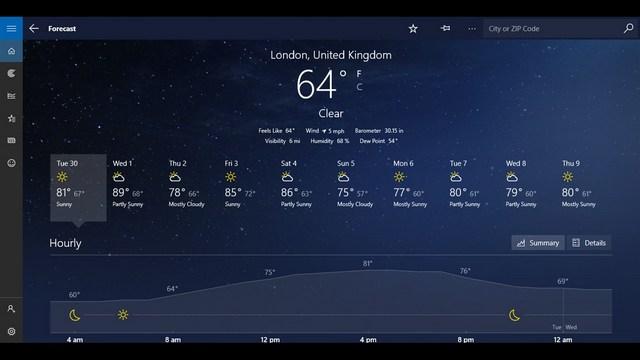MSN Weather: Best Weather App on Windows 10