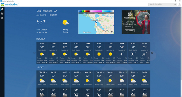 WeatherBug: Best Weather Apps for Windows 10