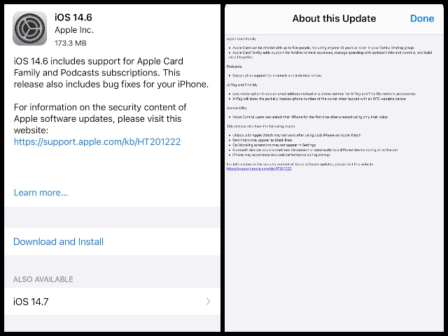 Apple Rolls out iOS 14.6 Update with Audio Improvements