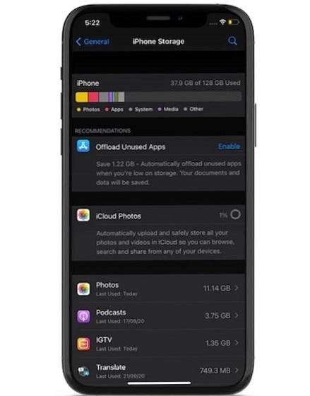 Überprüfen Sie Ihren iPhone-Speicher