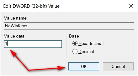 Disable All Windows Key Shortcuts Using Regedit