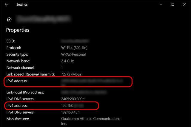 Find Local IP Address Windows 10