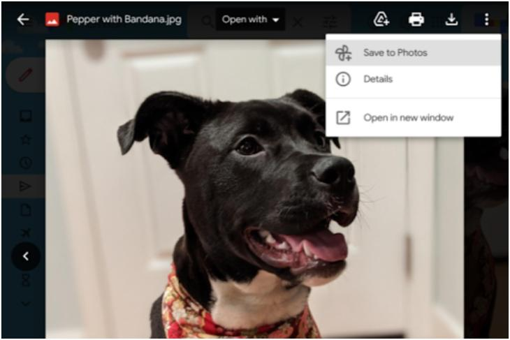 Google Adds New _Save to Photos_ Button on Gmail