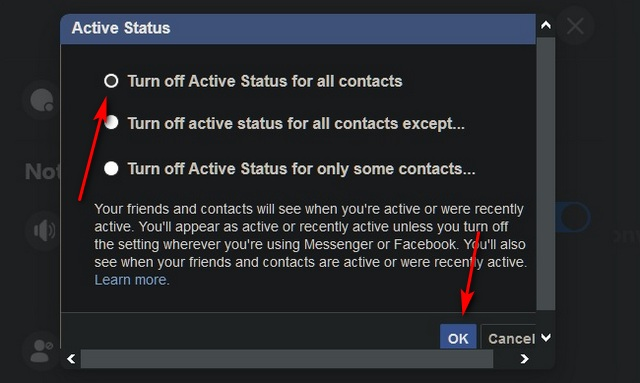 How to Hide 'Active' Status on Facebook (Android, iOS and the Web) - turn off green dot on Facebook