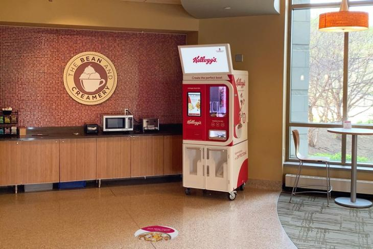 Kellogg's Bowl Bot cereal-making vending machine