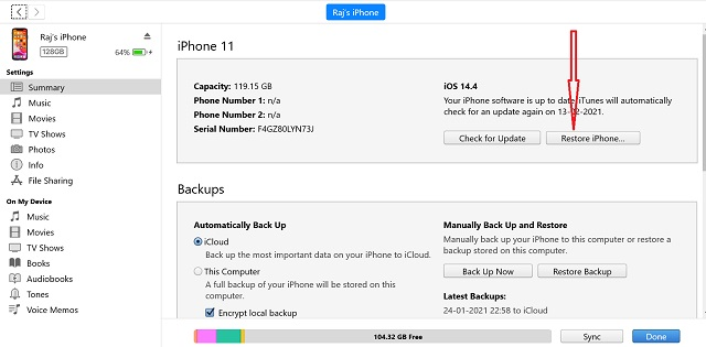 Restore-Backup - fix iPhone 12 Overheating Issue