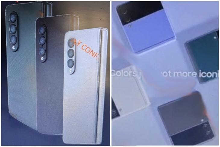 Samsung Galaxy Z Fold 3 and Z Flip 3 images leaked