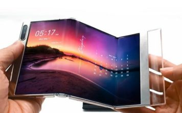 Samsung first bi-fold display shown off