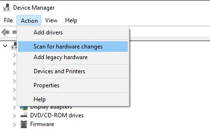 Re-install the Camera Driver