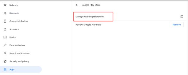 manage android preferences