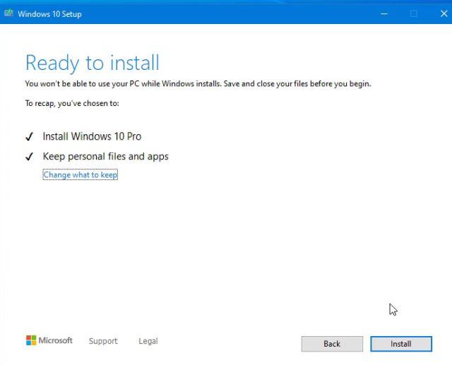 clean windows 10 install