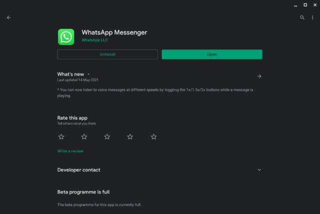 Installieren und verwenden Sie WhatsApp auf einem Chromebook (2021)