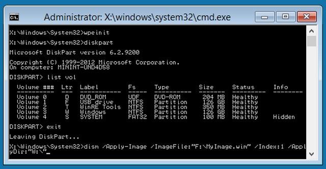 Windows PE 10.0 Based on Windows 10