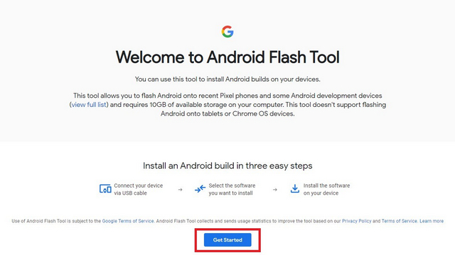 Android Flash Tool - Installieren Sie Android 12 Beta