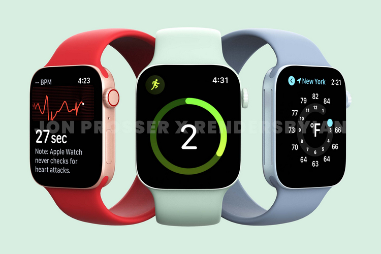 Apple Watch Series 7 Render Leak Shows off Flat Edges, New Green Color
