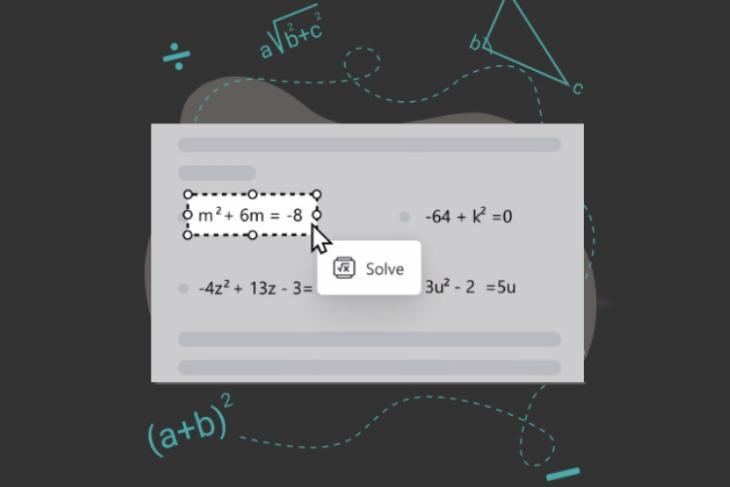 how to use microsoft edge math solver