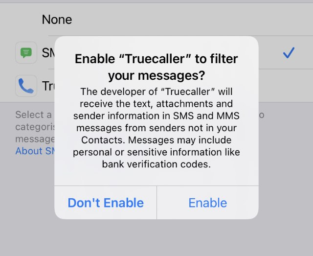 permissions required to filter messages
