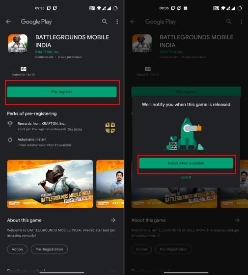 pre-registration link for battlegrounds mobile india