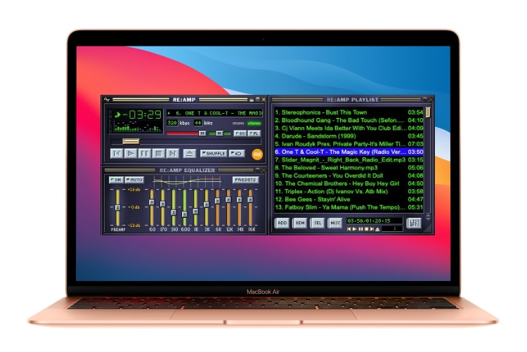 reAMP winamp player for macOS