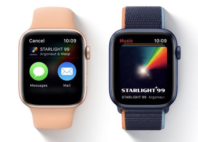 share music playlists apple watch watchos 8