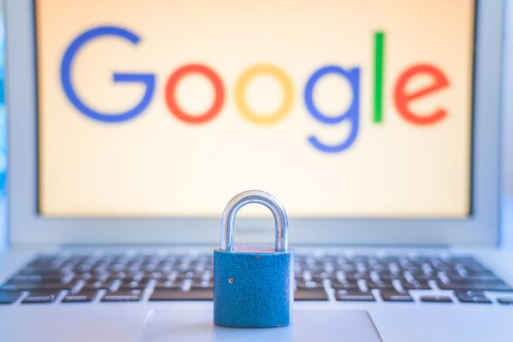 Google web and activity password protection