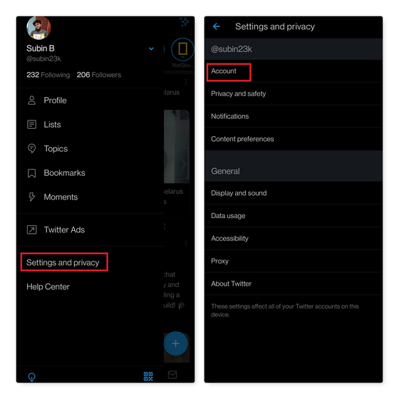 twitter account settings - get blue tick on twitter