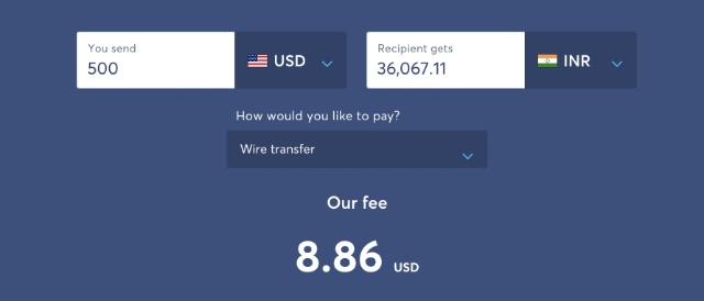 wise international transaction fees