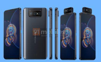 Asus zenfone 8 and zenfone 8 flip renders leaked