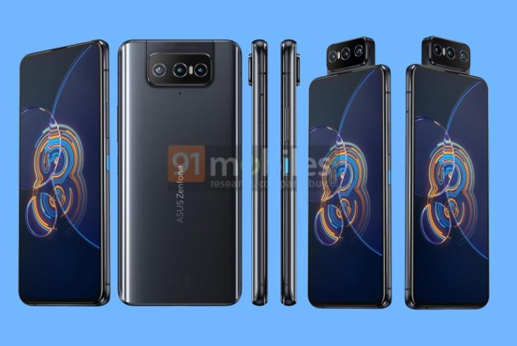 zenfone 8 and zenfone 8 flip renders leaked