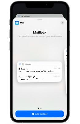 Apple Mail widget for iOS
