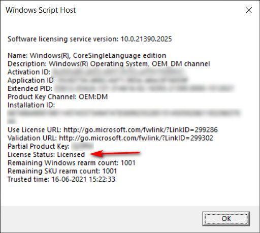 Überprüfen Sie den Aktivierungs- oder Lizenzierungsstatus von Windows 10 auf Ihrem PC