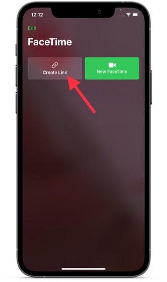 Create FaceTime call link