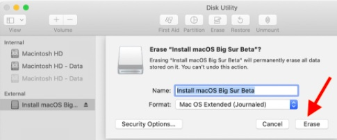 Erase and format your drive