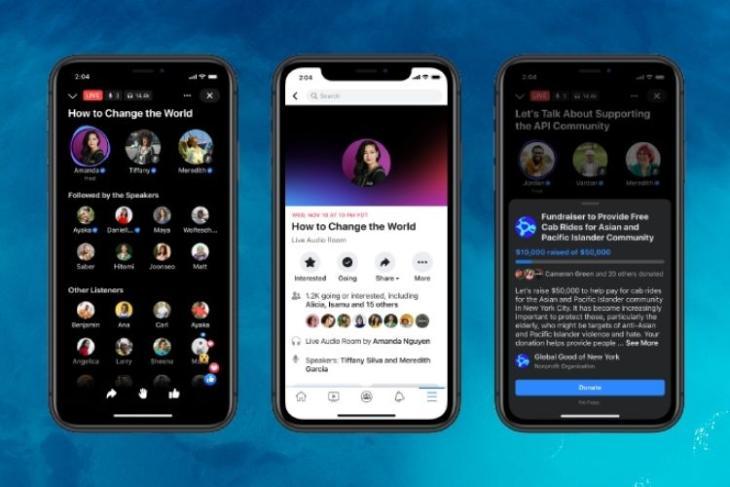 Facebook Live audio rooms released