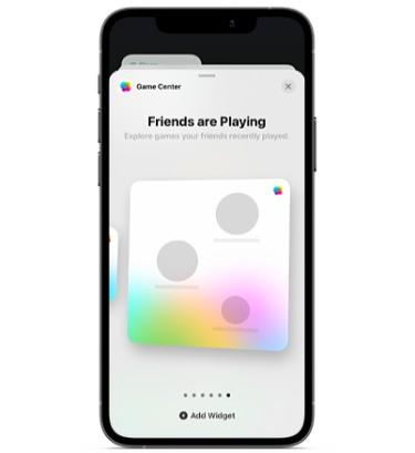 Game Center iPhone home screen widget
