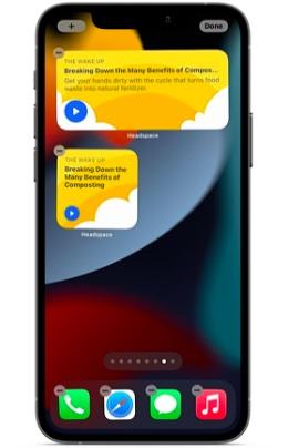 Headspace iOS widget
