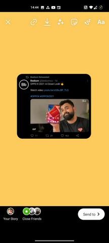 So teilen Sie einen Tweet auf Instagram Story android
