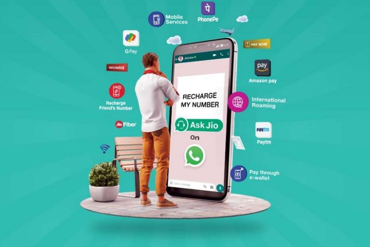 How to Recharge Jio Number Using JioCare WhatsApp Chatbot