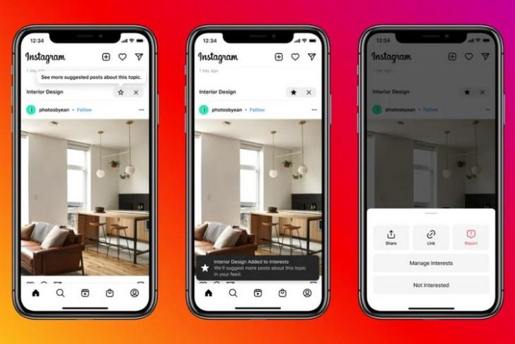 Instagram suggested post feature test