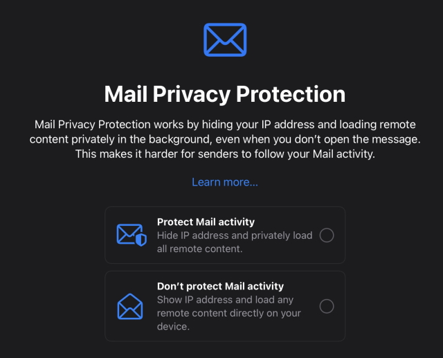 Mail Privacy Protection - ipados 15 features
