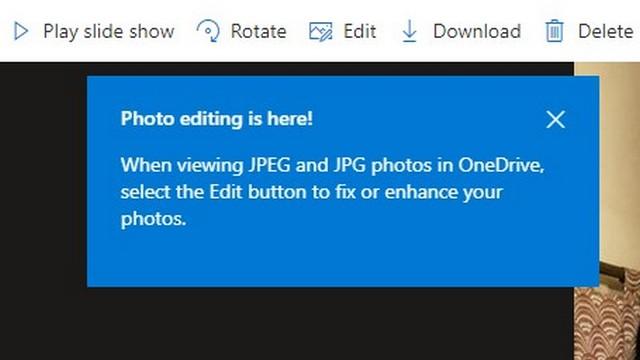 OneDrive photo editing ss Microsoft OneDrive Adds Photo Editing, Better Organization Features