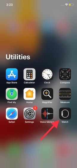 Öffnen Sie die Watch-App auf Ihrem iPhone