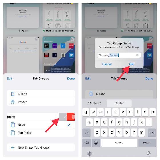 Rename tab groups - How to Use Tab Groups in Safari on iOS 15