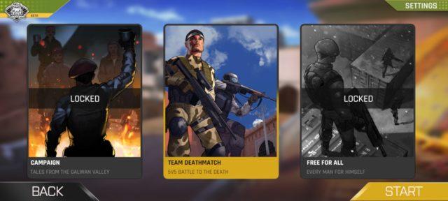 fau-g team deathmatch mode