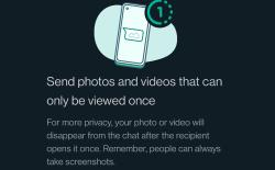Set Photos and Videos to View Once in WhatsApp