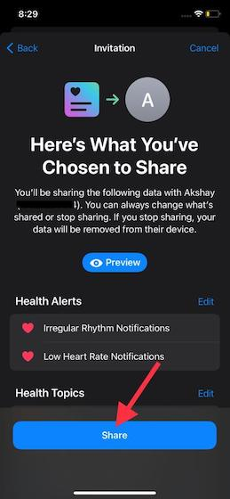 Share Health Data - how to set up Health Sharing in iOS 15