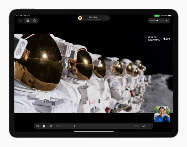 FaceTime SharePlay - ipados 15 features