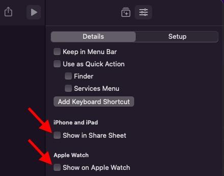 Eine Verknüpfung auf dem iPhone und der Apple Watch anzeigen
