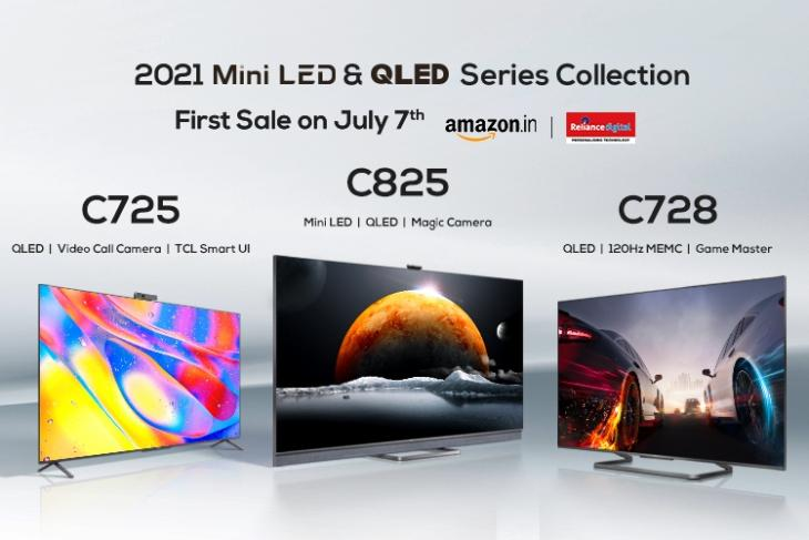 TCL C825, TCL C728, TCL C725 4K TVs Launched in India Starting at Rs. 64,990