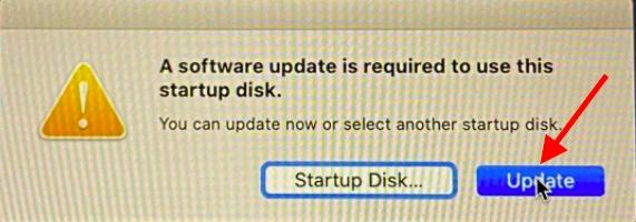 Update macOS installer drive